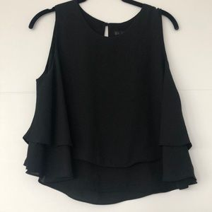 Black Crop Top with slight flare